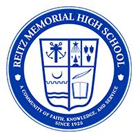Reitz Memorial Crest, A community of Faith, Knowledge, and Service Since 1925